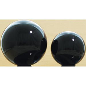 Acrylball Color 76 mm Schwarz transparent_small