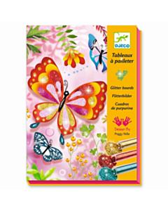 Basteln Glitzersand Schmetterlinge_tn